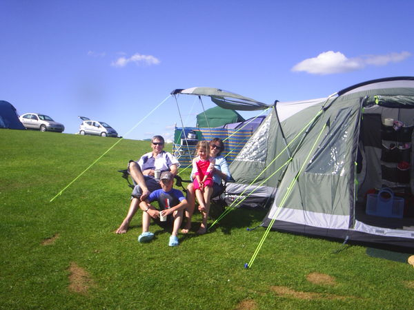 Camping Holidays at Three Cliffs Bay